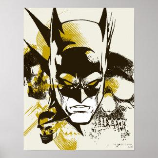 Batman Cowl and Skulls Poster