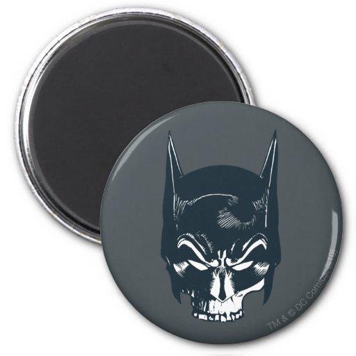 Batman Cowl/Skull Icon 2 Inch Round Magnet