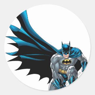 Batman Crouches Classic Round Sticker