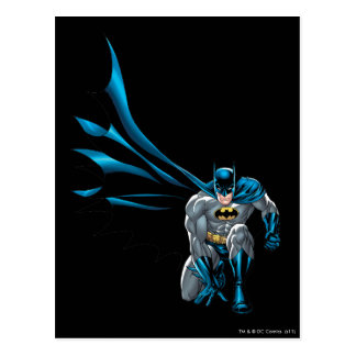 Batman Crouches Postcard