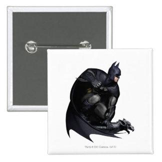 Batman Crouching Pinback Button