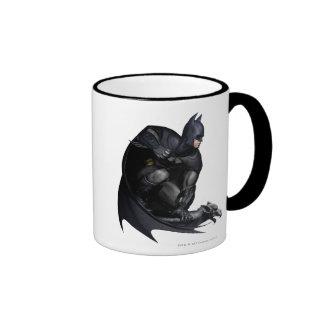Batman Crouching Ringer Coffee Mug