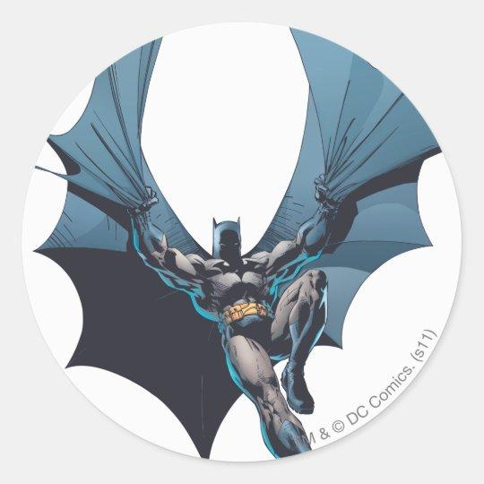 Batman - cuerda enredada pegatina redonda