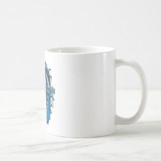 Batman Dark Knight | Blue Grey Logo Coffee Mug