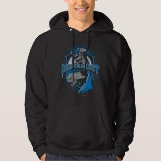 Batman Dark Knight | Blue Grey Logo Hooded Sweatshirt