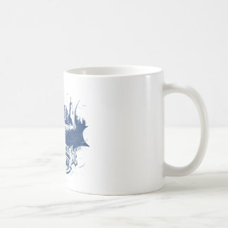 Batman Dark Knight | Cityscape Blue Logo Coffee Mug