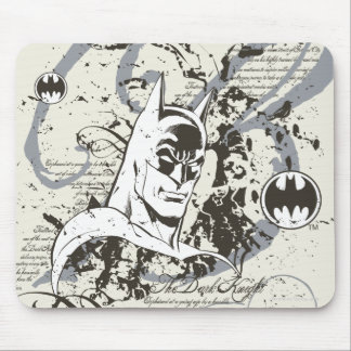 Batman Dark Knight Manuscript Montage Mouse Pad