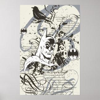 Batman Dark Knight Manuscript Montage Posters