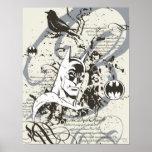 Batman Dark Knight Manuscript Montage Print