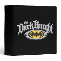 Batman Dark Knight | Name and Oval Logo Binder