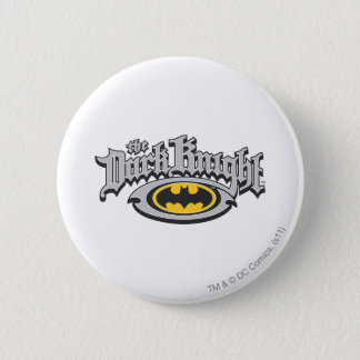 Batman Dark Knight | Name and Oval Logo Button