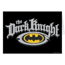 Batman Dark Knight | Name and Oval Logo Card