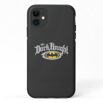Batman Dark Knight | Name and Oval Logo iPhone 11 Case