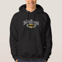 Batman Dark Knight | Name and Oval Logo Hoodie