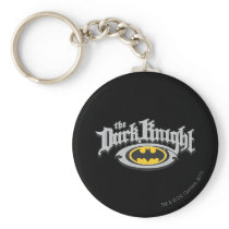 Batman Dark Knight | Name and Oval Logo Keychain