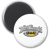 Batman Dark Knight | Name and Oval Logo Magnet