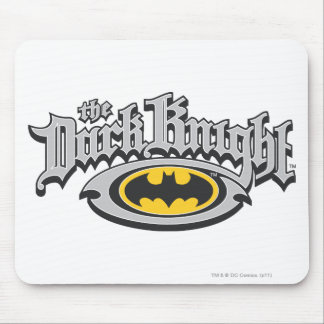 Batman Dark Knight | Name and Oval Logo Mouse Pad