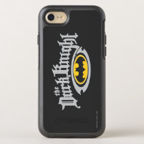 Batman Dark Knight | Name and Oval Logo OtterBox Symmetry iPhone SE/8/7 Case