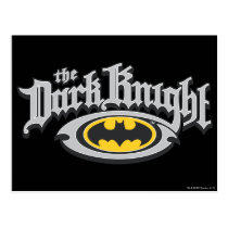 Batman Dark Knight | Name and Oval Logo Postcard