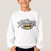 Batman Dark Knight | Name and Oval Logo Sweatshirt