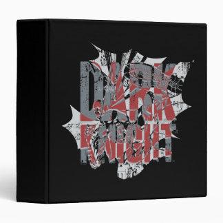 Batman Dark Knight | Name Red Grey Logo 3 Ring Binder