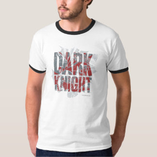 Batman Dark Knight | Name Red Grey Logo T-Shirt