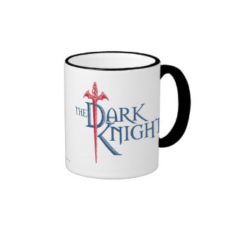 Batman Dark Knight | Name Red Sword Logo Ringer Mug