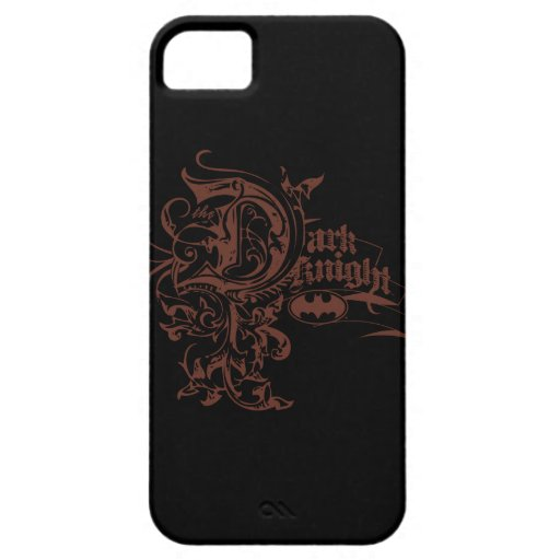 Batman Dark Knight | Urban Brown Logo iPhone SE/5/5s Case