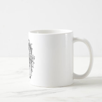 Batman Dark Knight | White Grey Outline Logo Coffee Mug