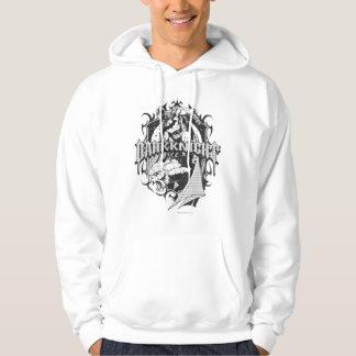 Batman Dark Knight | White Grey Outline Logo Hooded Pullover