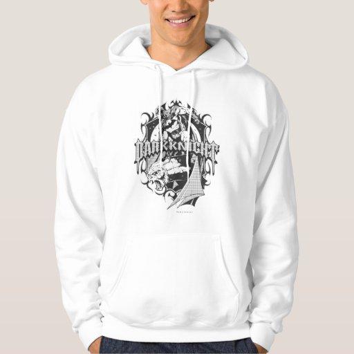 batman dark knight white grey outline logo hoodie zazzle