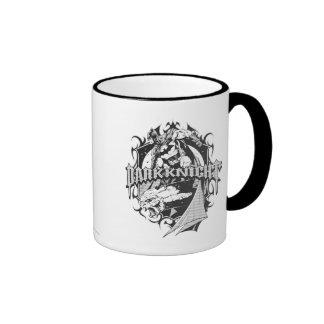 Batman Dark Knight | White Grey Outline Logo Ringer Mug