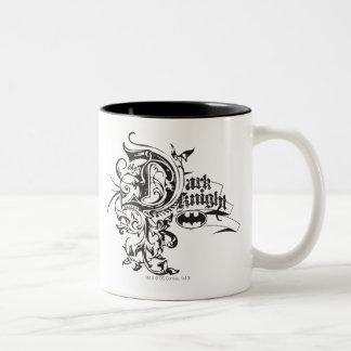 Batman Dark Night | Ornate Logo Two-Tone Coffee Mug