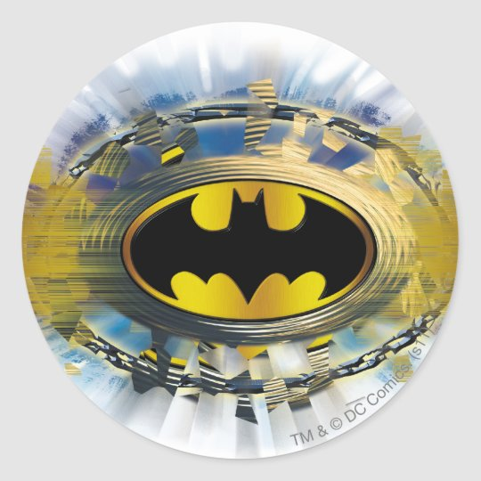 Batman Decorated Logo Classic Round Sticker