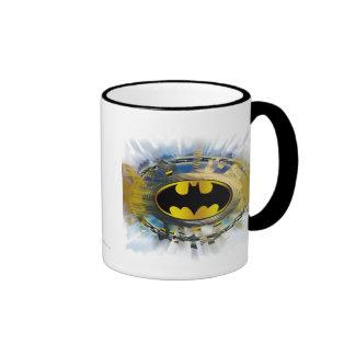 Batman Decorated Logo Ringer Coffee Mug