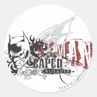 Batman Design 7 Classic Round Sticker