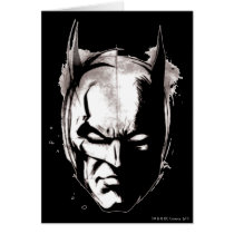 Batman Drawn Face Card
