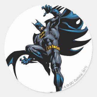 Batman Drops Down Classic Round Sticker