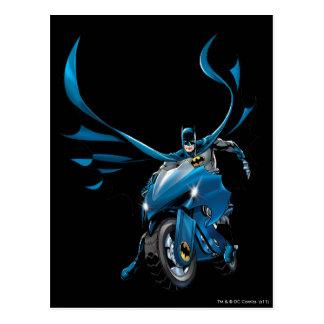 Batman en ciclo postales