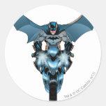 Batman en la bici con el cabo pegatina