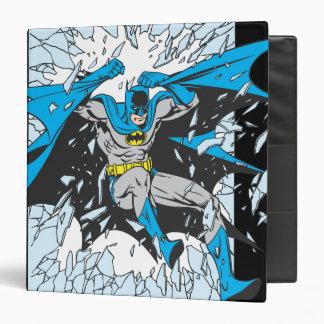 """Batman estalla a través del vidrio carpeta 1 1/2"""""""