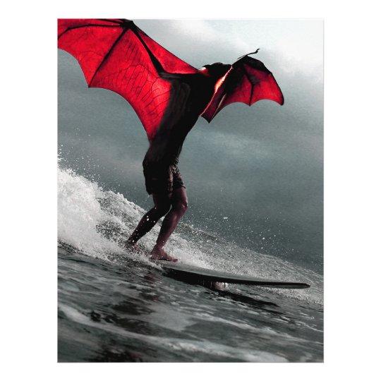 Batman fantasia kite surfing a wave letterhead