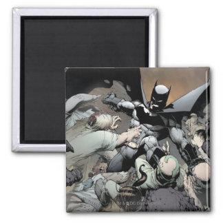 Batman Fighting Arch Enemies 2 Inch Square Magnet