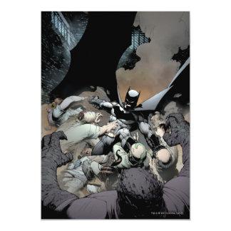 Batman Fighting Arch Enemies 5x7 Paper Invitation Card