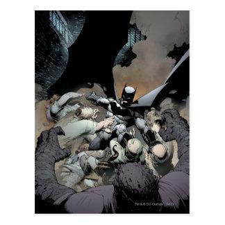 Batman Fighting Arch Enemies Postcard