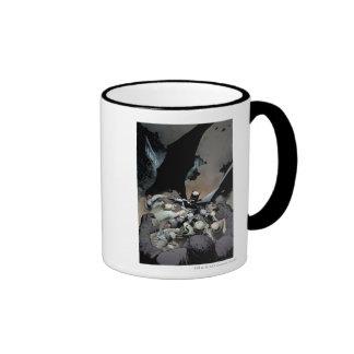 Batman Fighting Arch Enemies Ringer Coffee Mug