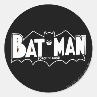 Batman | Force of Good 60s Logo Classic Round Sticker