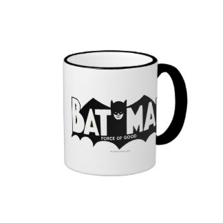 Batman - Force of Good 60s Logo Ringer Coffee Mug