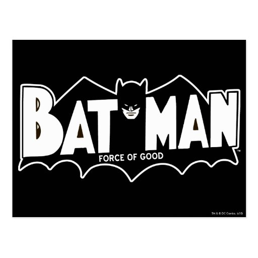 Batman - Force of Good 60s Logo Post Card