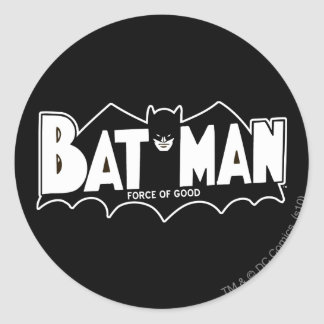 Batman - Force of Good 60s Logo Classic Round Sticker